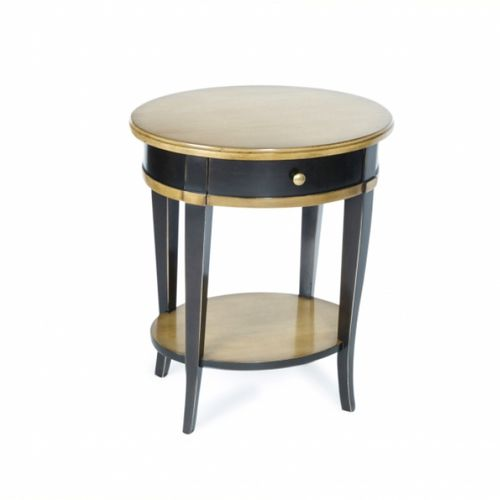 traditional bedside table / leather / marble / oak