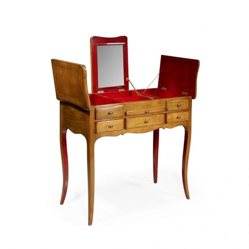 traditional dressing table / oak / cherrywood