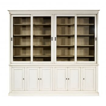 traditional bookcase / oak / mahogany / glass-front