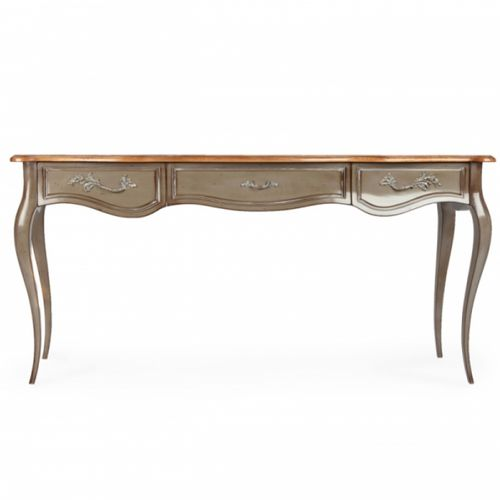 french style sideboard table / oak / mahogany / marble