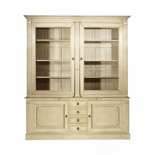 traditional bookcase / oak / mahogany / glass-front