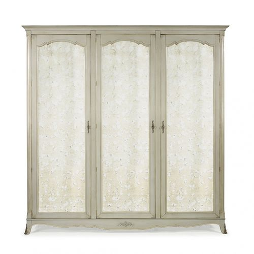 traditional wardrobe / oak / with swing doors / mirrored