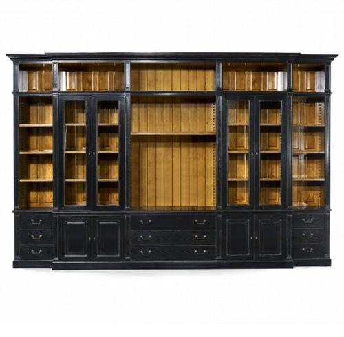 traditional bookcase / oak / mahogany