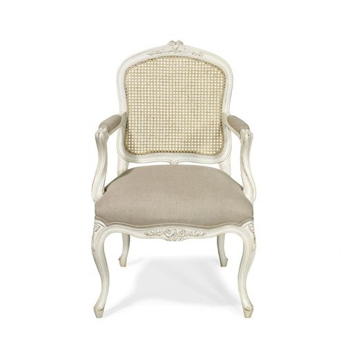 french style chair / upholstered / fabric / oak