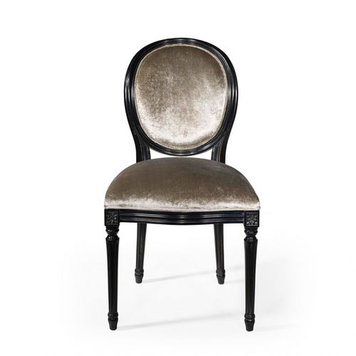 french style dining chair / upholstered / medallion / fabric