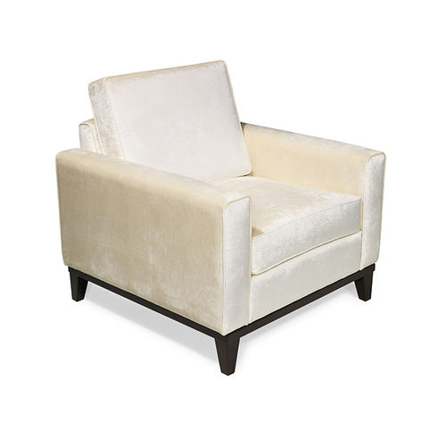 traditional armchair / fabric / leather / cherrywood