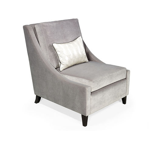 traditional fireside chair / fabric / black / gray