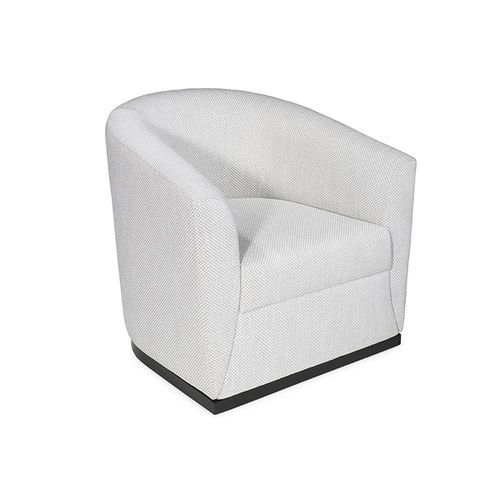 contemporary armchair / fabric / black / gray