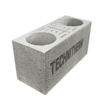 hollow concrete block / for pillars / anti-seismic / with thin joints