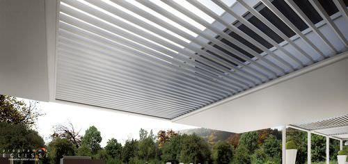 aluminum solar shading / for roofs / motorized / motorized rotating