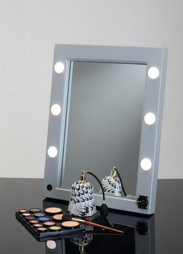 table mirror / illuminated / contemporary / rectangular