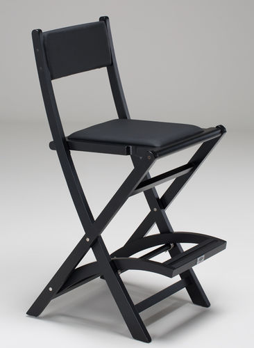 wooden makeup chair / with footrest / folding / ergonomic