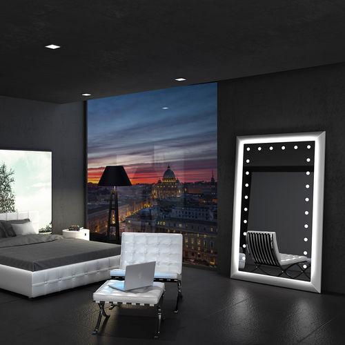 wall-mounted mirror / floor-standing / illuminated / contemporary