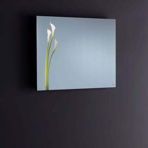 wall-mounted mirror / LED-illuminated / contemporary / rectangular