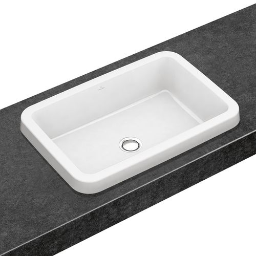 Built-in washbasin / rectangular / porcelain / contemporary ARCHITECTURA 416760 Villeroy & Boch