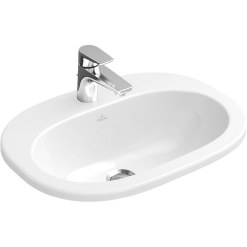 Built-in washbasin / oval / porcelain / contemporary O.NOVO: 416156 Villeroy & Boch