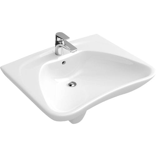 Wall-mounted washbasin / other shapes / porcelain / contemporary O.NOVO: 711960 Villeroy & Boch