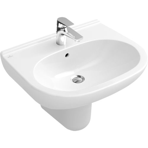 Wall-mounted washbasin / porcelain / contemporary O.NOVO 516055 Villeroy & Boch