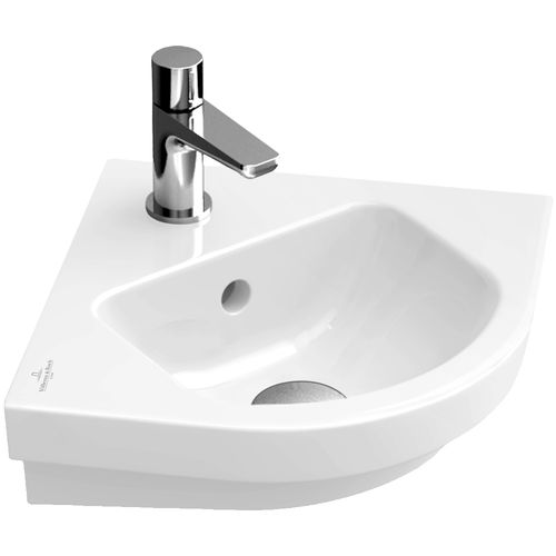 Wall-mounted hand basin / corner / porcelain SUBWAY 2.0: 731945 Villeroy & Boch