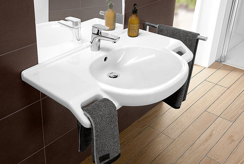 Wall-mounted washbasin / other shapes / ceramic / contemporary O.NOVO VITA Villeroy & Boch