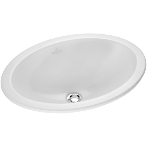 Built-in washbasin / oval / porcelain / contemporary LOOP & FRIENDS: 615500 Villeroy & Boch