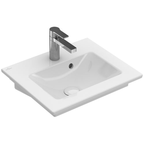 Wall-mounted washbasin / rectangular / porcelain / contemporary VENTICELLO:   412450 Villeroy & Boch