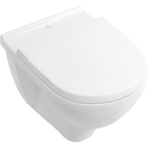 wall-hung toilet / porcelain / rimless