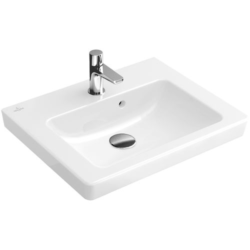 Wall-mounted washbasin / rectangular / porcelain / contemporary SUBWAY 2.0: 73155G Villeroy & Boch