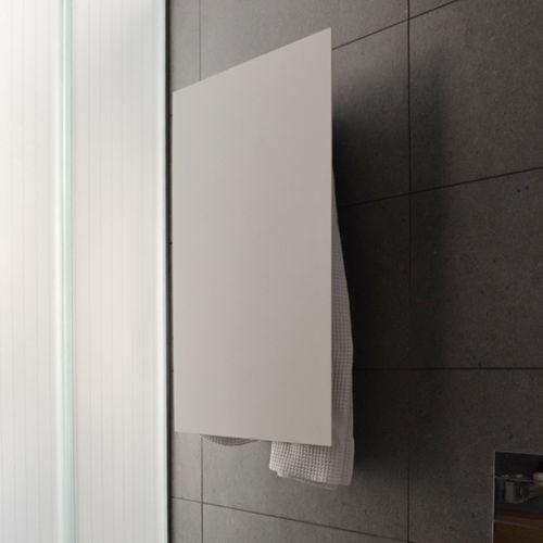 electric towel radiator / aluminum / contemporary / rectangular