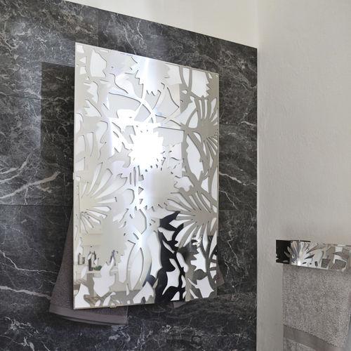 electric towel radiator / brass / aluminum / stainless steel