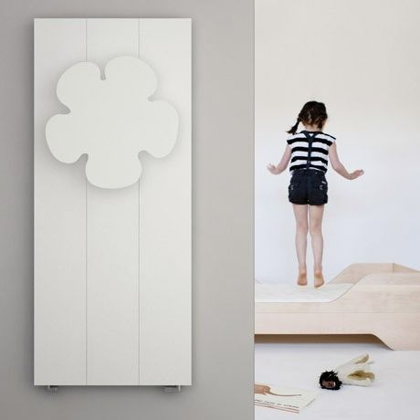 hot water radiator / aluminum / contemporary / bathroom