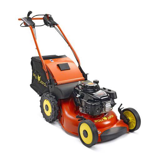 walk-behind lawn mower / gasoline / hydraulic motor / collecting