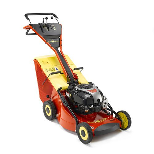 walk-behind lawn mower / gasoline / for large areas / for sloped terrain