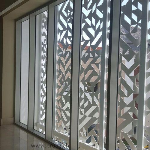 composite solar shading / HPL / for facades / window