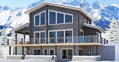 Prefab house / contemporary / solid wood / energy-efficient CHAMONIX B  KONTIO