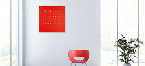 Contemporary clock / analog / wall-mounted / LED LARGE qlocktwo