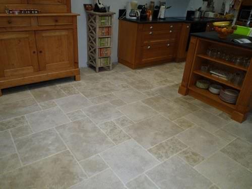 indoor tile / floor / limestone / polished