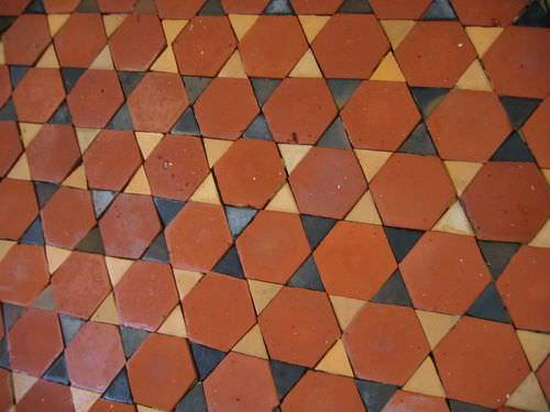 indoor tile / floor / terracotta / polished