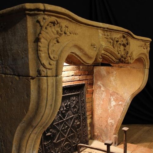 Louis XVI style fireplace surround / marble / stone / with oven