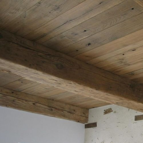 solid wood beam / rectangular / for flooring