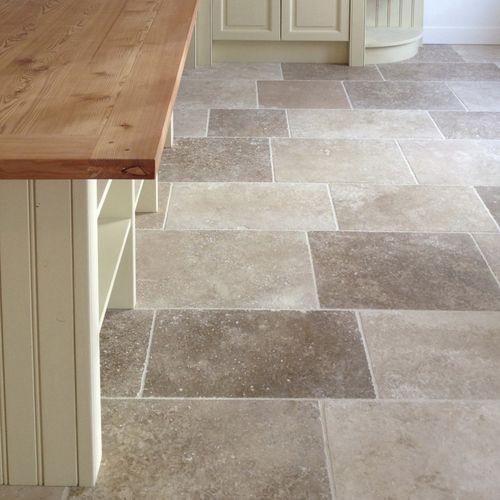 indoor tile / floor / travertine / polished