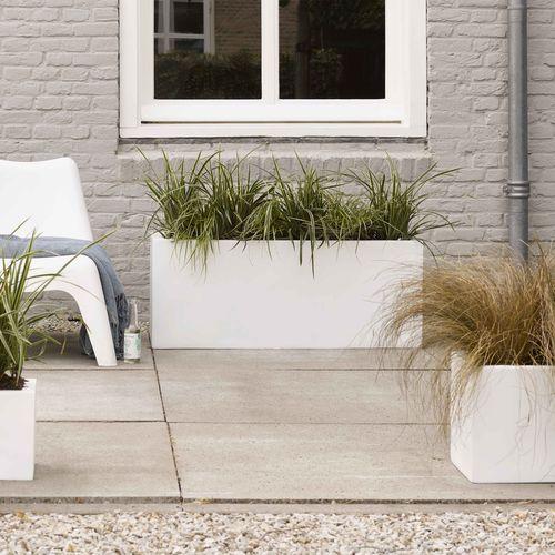 plastic planter / rectangular / contemporary