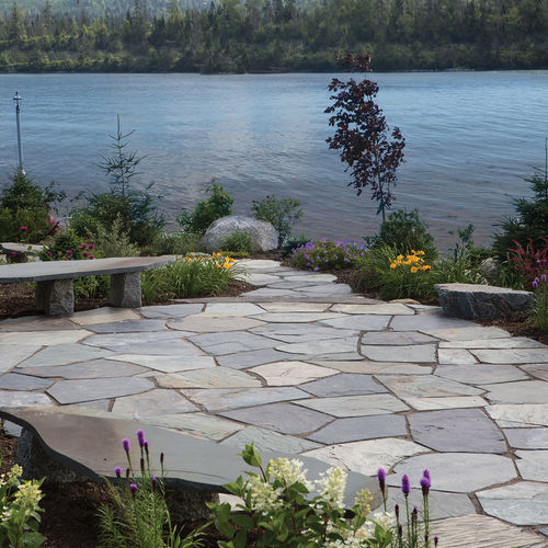 concrete paver / anti-slip / frost-resistant / aged