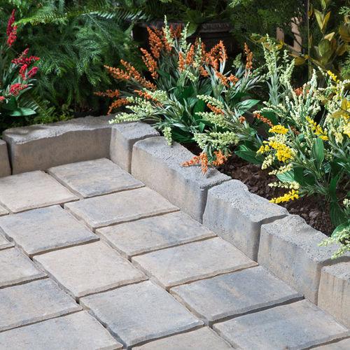 garden edge / concrete / rectangular