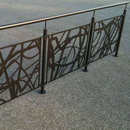 protective barrier / fixed / metal / for public spaces