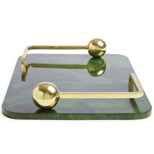 brass serving tray / for domestic use