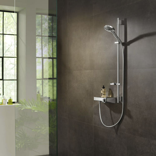 wall-mounted shower set / contemporary / rain / with hand shower
