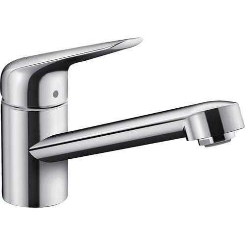 chromed metal mixer tap / kitchen / 1-hole / cold water