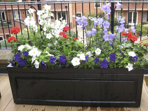 fiberglass planter / rectangular / contemporary