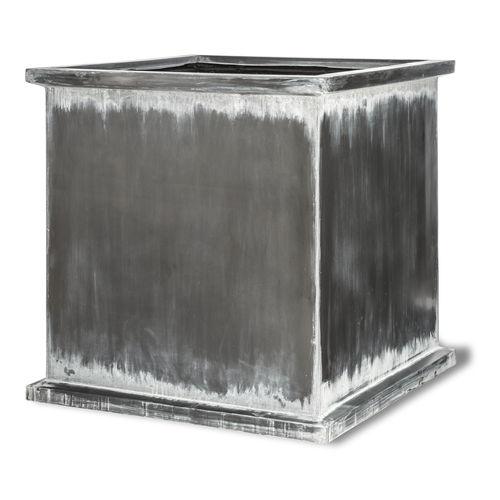 fiberglass planter / square / contemporary